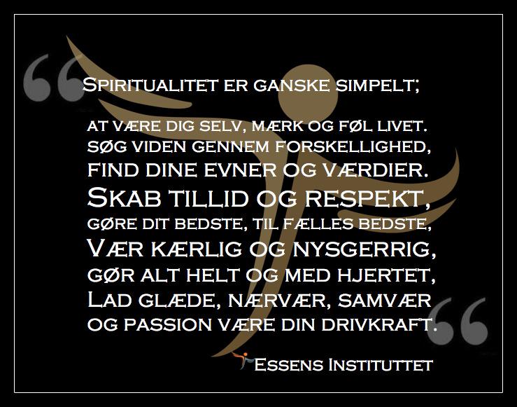 EI Spiritualitet er ganske simpelt